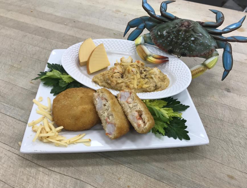 shrimp & Crab au gratin cakes