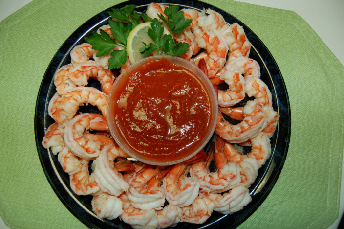 Steamed Shrimp Party Platter Capt'n Chucky's