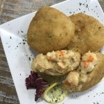 Shrimp and Crab Au Gratin Cabe